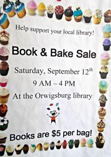 9-12-2015, Book and Bake Sale, Orwigsburg Library, Orwigsburg
