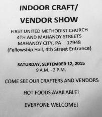 9-12-2015, Indoor Craft, Vendor Show, First United Methodist Church, Tamaqua