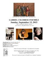 9-13-2015, Gabriel Chamber Ensemble performs, Jerusalem Lutheran Church, Schuylkill Haven