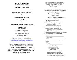 9-13-2015, Huge Craft Show, Hometown Farmers Market, Hometown