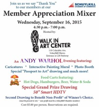 9-16-2015, Member Appreciation Mixer, Schuylkill Chamber of Commerce, Walk In Art Center, Schuylkill Haven
