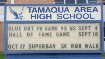 9-18, 10-17-2015, Tamaqua High School Events