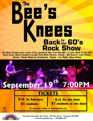 9-19-2015, Bee's Knees Back to the 60's Rock Show, Tamaqua Community Arts Center, Tamaqua