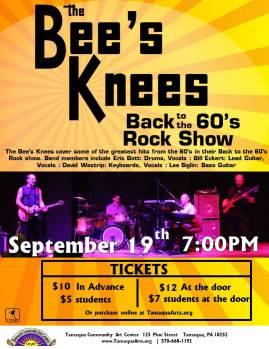 9-19-2015, Bee's Knees Back to the 60's Rock Show, Tamaqua Community Arts Center, Tamaqua