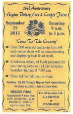 9-19-2015, Craft and Arts Fair, Hegins Park, Hegins