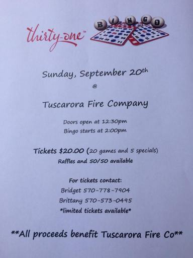9-20-2015, Thirty One Benefit, Tuscarora Fire Company, Tuscarora