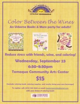 9-23-2015, Color Between The Wines, Lines, Tamaqua Community Arts Center, Tamaqua