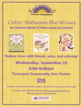 9-23-2015, Color Between The Wines, Lines, Tamaqua Community Arts Center, Tamaqua