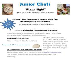 9-23-2015, Junior Chefs Pizza Night, Citizens Fire Company, Tamaqua