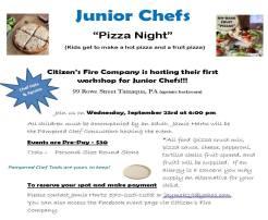 9-23-2015, Junior Chefs Pizza Night, Citizens Fire Company, Tamaqua