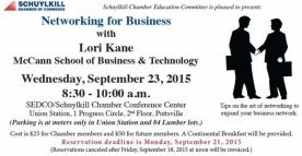 9-23-2015, Networking For Business, via Lori Kane, SEDCO, Schuylkill Chamber Conference Center, Pottsville