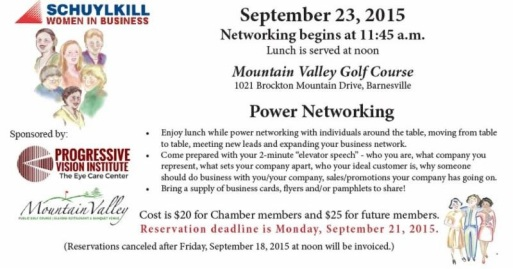 9-23-2015, Power Networking, Mountain Valley Golf Course, Barnesville