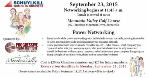 9-23-2015, Power Networking, Mountain Valley Golf Course, Barnesville