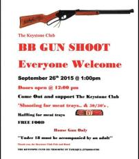 9-26-2015, BB Gun Shoot, Keystone Club, Tamaqua