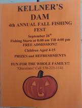 9-26-2015, Kellner's Dam Fall Fishing Fest, Kellner's Dam, Top of Pitt Street, Tamaqua
