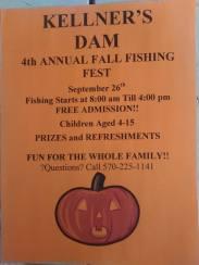 9-26-2015, Kellner's Dam Fall Fishing Fest, Kellner's Dam, Top of Pitt Street, Tamaqua