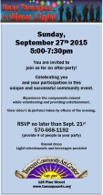 9-27-2015, Dear Tamaqua After Party, RSVP Req'd, Community Arts Center, Tamaqua