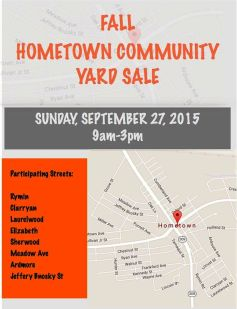 9-27-2015, Hometown Fall Community Yard Sale, Hometown