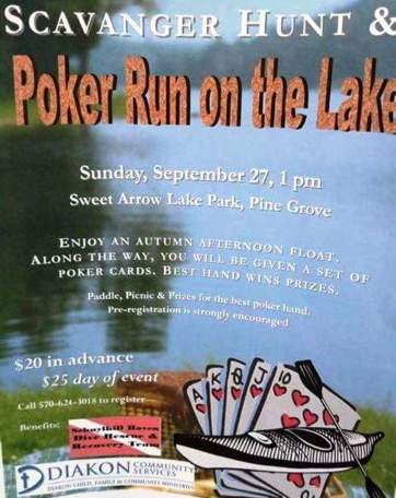 9-27-2015, Scavenger Hunt and Poker Run on the Lake, Sweet Arrow Lake Park, Pine Grove