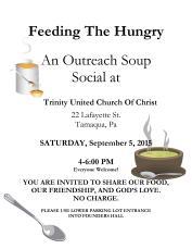 9-5-2015, Soup Social, Trinity United Church of Christ, Tamaqua