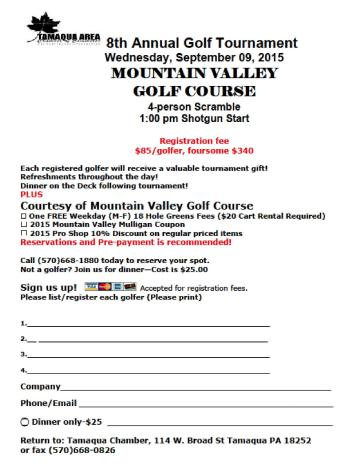 9-9-2015, Tamaqua Chamber Golf Tournament, Mountain Valley Golf Course, Barnesville (1)