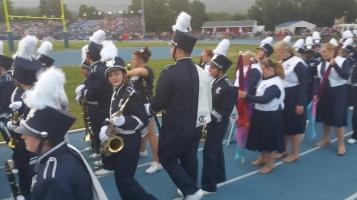 Blue Out Football Game, Benefit for Thelma Urban, Raider Band, Sports Stadium, Tamaqua, 9-4-2015 (105)