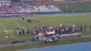 Blue Out Football Game, Benefit for Thelma Urban, Raider Band, Sports Stadium, Tamaqua, 9-4-2015 (111)