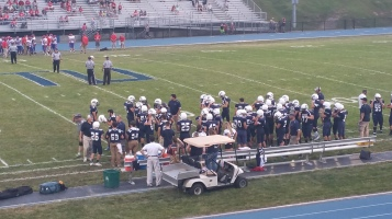 Blue Out Football Game, Benefit for Thelma Urban, Raider Band, Sports Stadium, Tamaqua, 9-4-2015 (112)