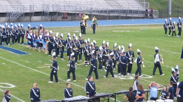 Blue Out Football Game, Benefit for Thelma Urban, Raider Band, Sports Stadium, Tamaqua, 9-4-2015 (115)