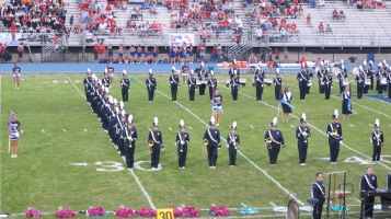 Blue Out Football Game, Benefit for Thelma Urban, Raider Band, Sports Stadium, Tamaqua, 9-4-2015 (118)