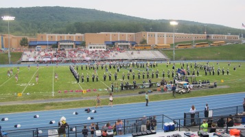 Blue Out Football Game, Benefit for Thelma Urban, Raider Band, Sports Stadium, Tamaqua, 9-4-2015 (120)
