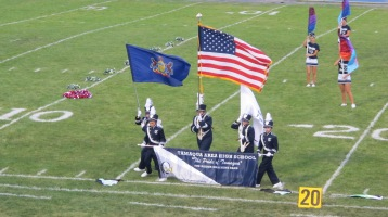 Blue Out Football Game, Benefit for Thelma Urban, Raider Band, Sports Stadium, Tamaqua, 9-4-2015 (137)
