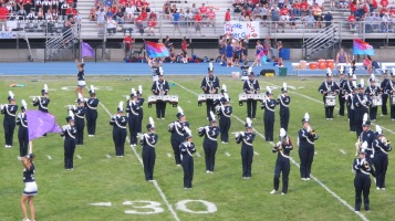 Blue Out Football Game, Benefit for Thelma Urban, Raider Band, Sports Stadium, Tamaqua, 9-4-2015 (138)