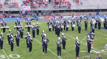 Blue Out Football Game, Benefit for Thelma Urban, Raider Band, Sports Stadium, Tamaqua, 9-4-2015 (139)