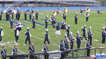 Blue Out Football Game, Benefit for Thelma Urban, Raider Band, Sports Stadium, Tamaqua, 9-4-2015 (141)