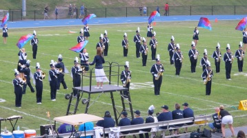 Blue Out Football Game, Benefit for Thelma Urban, Raider Band, Sports Stadium, Tamaqua, 9-4-2015 (143)