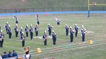 Blue Out Football Game, Benefit for Thelma Urban, Raider Band, Sports Stadium, Tamaqua, 9-4-2015 (144)