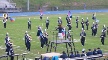 Blue Out Football Game, Benefit for Thelma Urban, Raider Band, Sports Stadium, Tamaqua, 9-4-2015 (145)