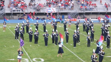 Blue Out Football Game, Benefit for Thelma Urban, Raider Band, Sports Stadium, Tamaqua, 9-4-2015 (148)