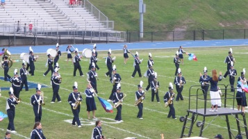 Blue Out Football Game, Benefit for Thelma Urban, Raider Band, Sports Stadium, Tamaqua, 9-4-2015 (152)