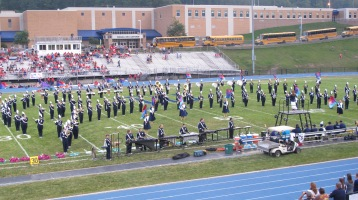 Blue Out Football Game, Benefit for Thelma Urban, Raider Band, Sports Stadium, Tamaqua, 9-4-2015 (155)