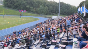 Blue Out Football Game, Benefit for Thelma Urban, Raider Band, Sports Stadium, Tamaqua, 9-4-2015 (159)