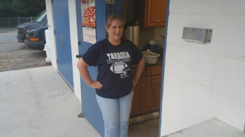 Blue Out Football Game, Benefit for Thelma Urban, Raider Band, Sports Stadium, Tamaqua, 9-4-2015 (16)