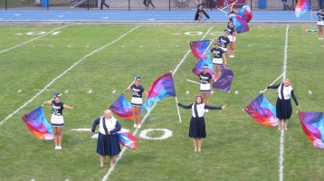 Blue Out Football Game, Benefit for Thelma Urban, Raider Band, Sports Stadium, Tamaqua, 9-4-2015 (162)