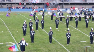 Blue Out Football Game, Benefit for Thelma Urban, Raider Band, Sports Stadium, Tamaqua, 9-4-2015 (166)
