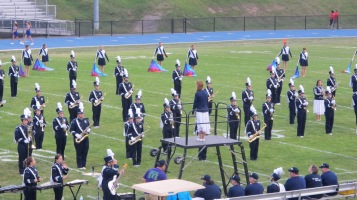 Blue Out Football Game, Benefit for Thelma Urban, Raider Band, Sports Stadium, Tamaqua, 9-4-2015 (169)
