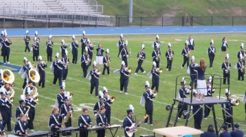 Blue Out Football Game, Benefit for Thelma Urban, Raider Band, Sports Stadium, Tamaqua, 9-4-2015 (180)