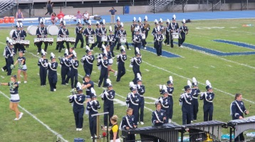 Blue Out Football Game, Benefit for Thelma Urban, Raider Band, Sports Stadium, Tamaqua, 9-4-2015 (182)