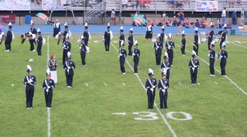 Blue Out Football Game, Benefit for Thelma Urban, Raider Band, Sports Stadium, Tamaqua, 9-4-2015 (192)