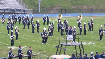Blue Out Football Game, Benefit for Thelma Urban, Raider Band, Sports Stadium, Tamaqua, 9-4-2015 (195)